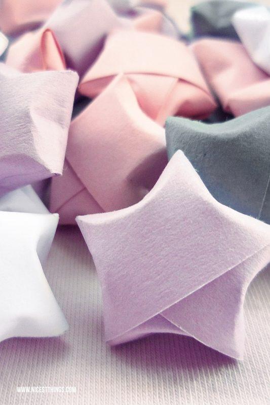 Papiersterne falten DIY Anleitung Origami Sterne