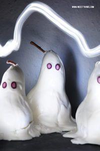 Halloween Dessert Idee: Birnen Geister – Gei...