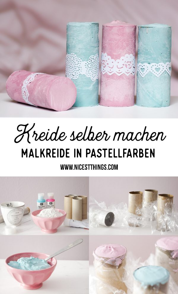 Kreide selber machen DIY Malkreide in Pastellfarben Straßenkreide #kreide #malkreide #strassenkreide #diy #kindergeburtstag #birthday #children #activities #funactivities #chalk #bastelideen