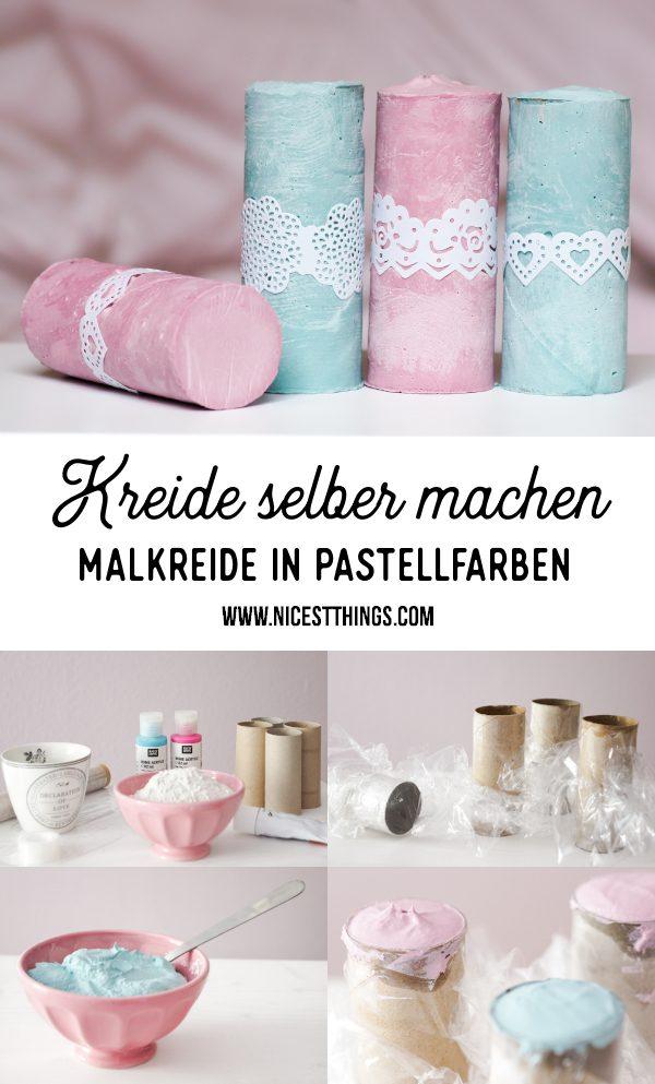 Kreide selber machen DIY Malkreide in Pastellfarben Straßenkreide #kreide #malkreide #strassenkreide #diy #kindergeburtstag #birthday #children #activities #funactivities #chalk #bastelideen