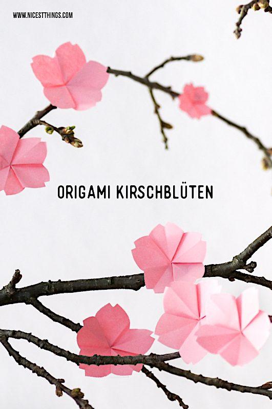 Top Origami Kirschblüten basteln: DIY Kirschblüten falten aus Papier NR71
