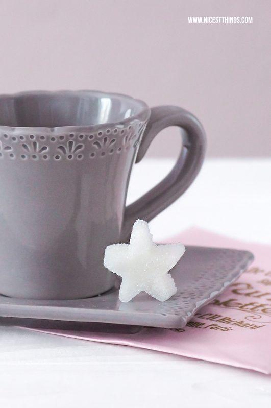 DIY Würfelzucker Zuckerwürfel selber machen Zucker Sterne
