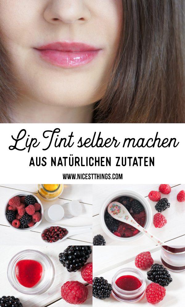 DIY Lip Tint selber machen Lip Stain Beeren Rezept #liptint #lipstain #diy #kosmetik #naturkosmetik #kosmetik #beeren #lippenpflege #biokosmetik #diylippenstift