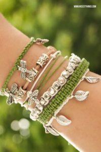 DIY Armbänder selber machen flechten Leder Perlen