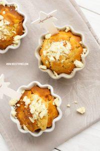 Kürbis Muffins Rezept mit Butternut und weisser S...