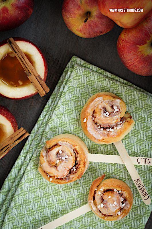 Apfel Zimt Schnecken Zimtschnecken am Stiel #zimtschnecken #äpfel #herbstrezepte