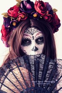 Dia De los Muertos Sugar Skull Make Uo #halloween #makeup #diadelosmuertos #sugarskull #lacatrina