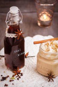 Chai Sirup Rezept, Chai Sirup selber machen #chaisirup #chai #weihnachten #geschenkeausderküche
