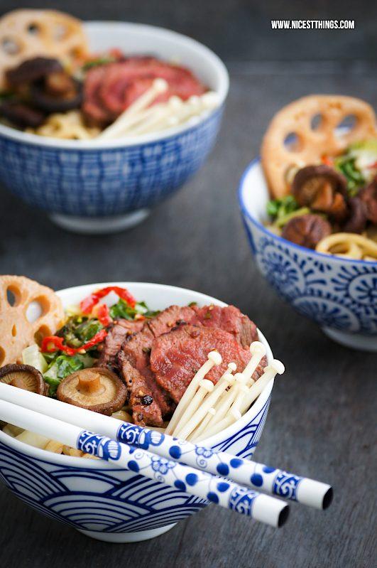 Ramen Rezept einfach Nudelsuppe asiatisch Ramensuppe Rind Pilze #ramen #ramensuppe #ramensoup #noodlesoup #asiatisch #asiafood #ramenbowl