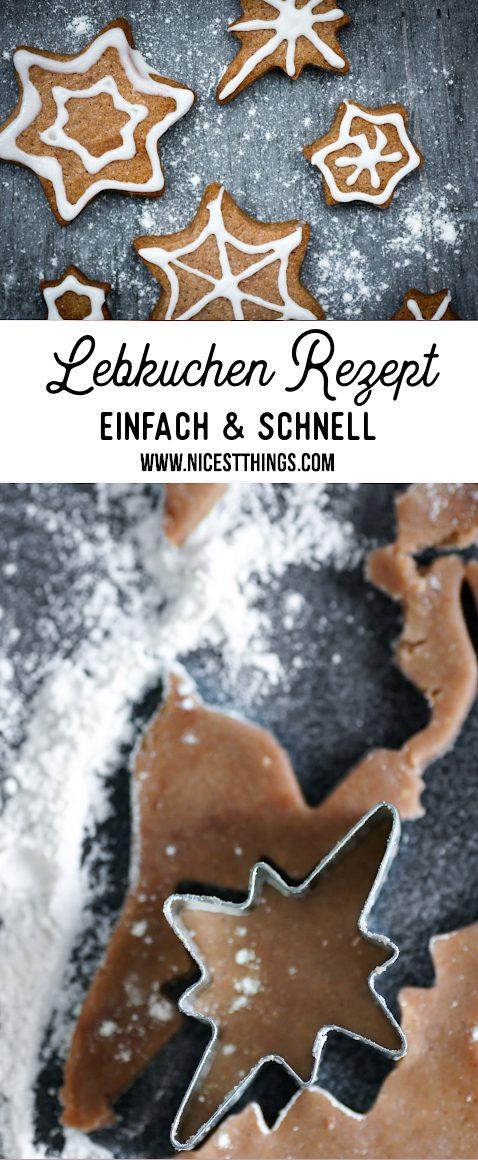 Lebkuchen Rezept einfach schnell Plätzchen backen Lebkuchengewürz selber machen Lebkuchen Sterne #lebkuchen #printen #pfefferkuchen #gingerbread #plätzchen #rezepteweihnachten #weihnachten