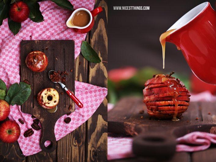 Apfel Karamell Mille Feuille mit Pekannüssen