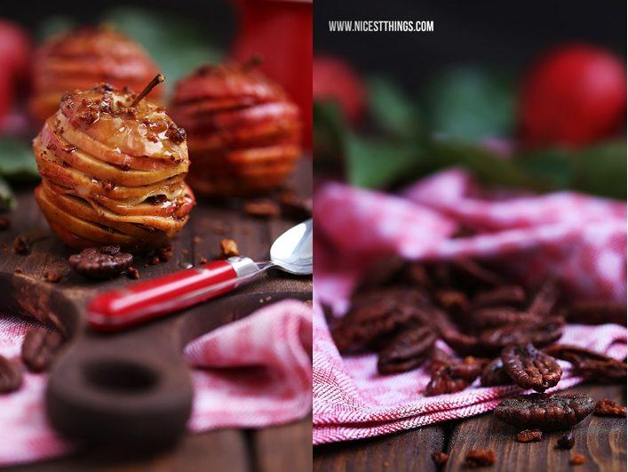 Apfel Mille Feuille Millefeuille mit Karamell, Zimt und Pekannüssen