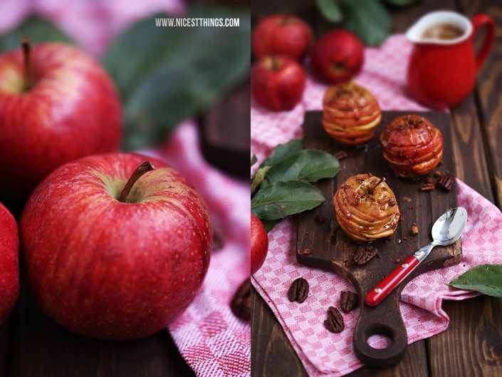 Apfel Millefeuille Rezept mit Karamell und Pekannüssen