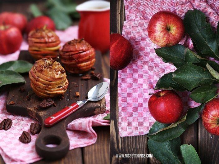 Apfel Karamell rezept Millefeuille mit Pekannüssen und Zimt