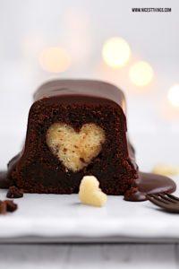 Kuchen mit Herz Motivkuchen Rezept #herzkuchen #motivkuchen #kuchen #chai #schokolade #valentinstag