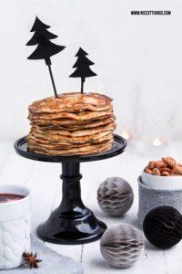 Pancakes Rezept Weihnachten Karamell Pfannkuchen #pancakes #pfannkuchen #weihnachten #karamell