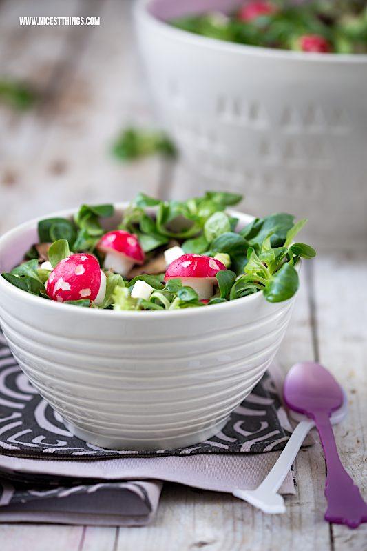 Wintersalat Rezept Fliegenpilz Radieschen Avocado Pilze #wintersalat #salat #detox #vegan #avocado #pilze #salat #foodblogger #rezept