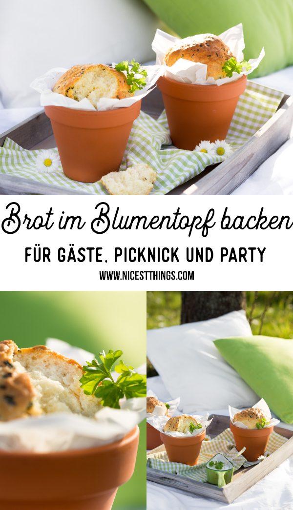 Brot im Blumentopf backen Brot im Tontopf Rezept #brot #blumentopf #backen #tontopf #rezept #brotrezept #partyrezepte #picknick