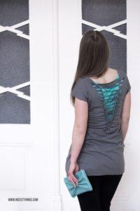 DIY Kleid aus T-Shirt machen ohne Nähen