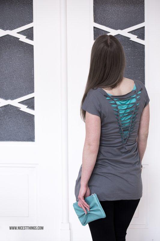 DIY: Kleid aus T-Shirt machen – ohne Nähen