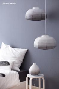 DIY Ombre Lampenschirm aus Ikea Papierlampe selber machen DipDye #diy #ombre #dipdye #lampenschirm #ikea #ikeahack #diyleuchte #papierlampe