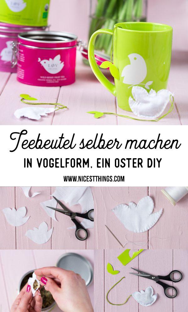Teebeutel nähen Vögelchen Vogel Oster DIY Ostern #teebeutel #nähen #vögelchen #ostern #diy #ostergeschenk #osterdiy