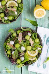 Melonen Salat Rezept mit Mozzarella und Boquerones Rezept #melonensalat #melonen #salat #sommersalat #boquerones #mozzarella