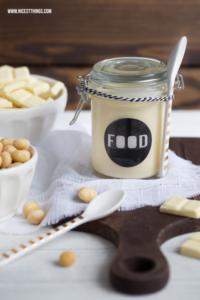 Weisse Schokolade Aufstrich Rezept mit Macadamia Nüssen