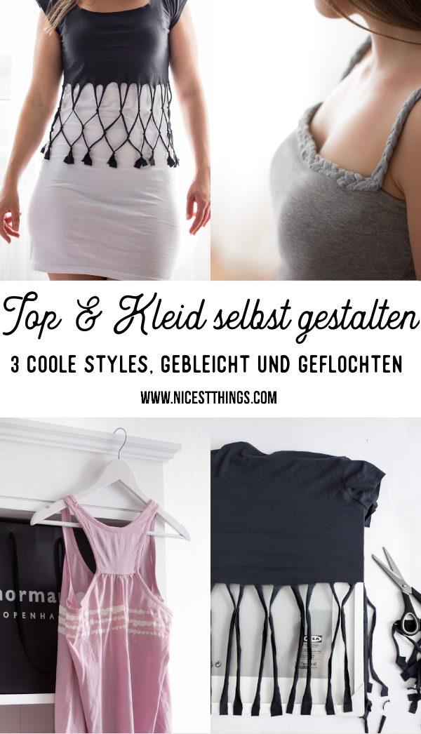 T-Shirt gestalten Top bleichen DIY Kleid Flechttop Shirt selber machen #diy #fashiondiy #bleiche #bleach #shirt # top #dress #fishnet #diydress #diytop #diyshirt