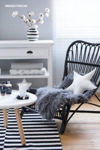 DIY Filzkugel Untersetzer selber machen House Doctor Sessel #interior #winterdeko #filzkugeln #diy