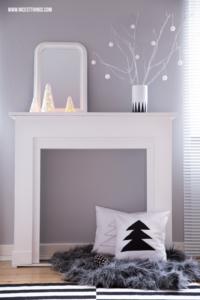 DIY Windlichter Kegel. Weihnachten Sterne auf kaminkonsole Kaminumrandung #diyweihnachten #windlichter #kaminumrandung #kaminkonsole #weihnachtsdiy