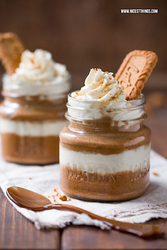 Karamell Mousse Rezept Lotus Biscoff Mousse #biscoff #mousse #dessert #karamell #creme #schichtdessert #kekse #soulfood