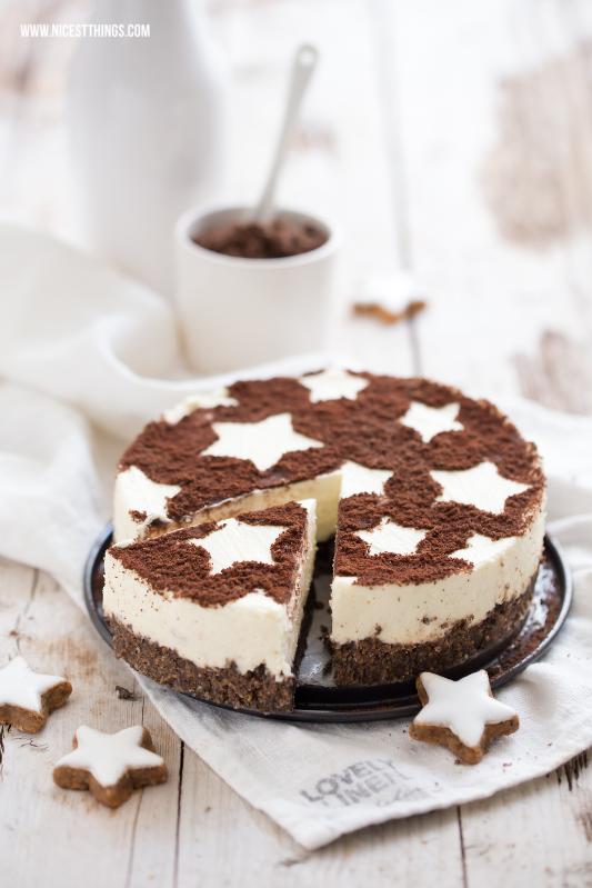Zimtstern Cheesecake Rezept Zimt Käsekuchen für Weihnachten ohne Backen #zimtstern #cheesecake #käsekuchen #weihnachten #zimt