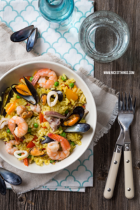 Paella Original Rezept mit Muscheln und Garnelen #paella #muscheln #seafood