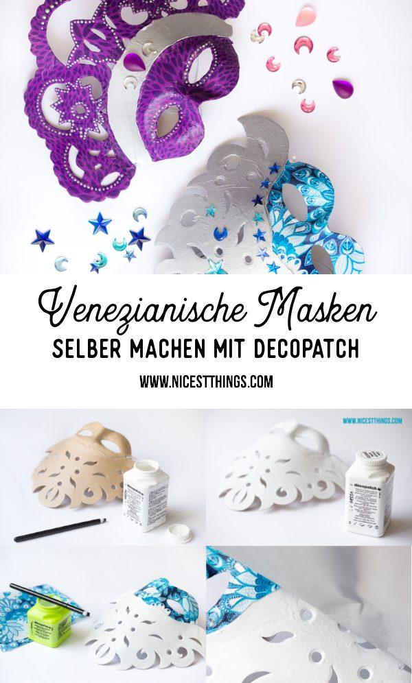 Decopatch Maske basteln DIY venezianische Maske selber machen #diy #decopatch #maske #diymaske #decopatchdiy #venezianischemaske #karneval #diykostüm #kostüm #masken
