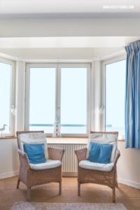 Ferienwohnung Nordfrankreich Fenster mit Meerblick Erker