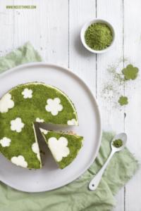 Matcha Cheesecake Rezept ohne Backen mit Limette