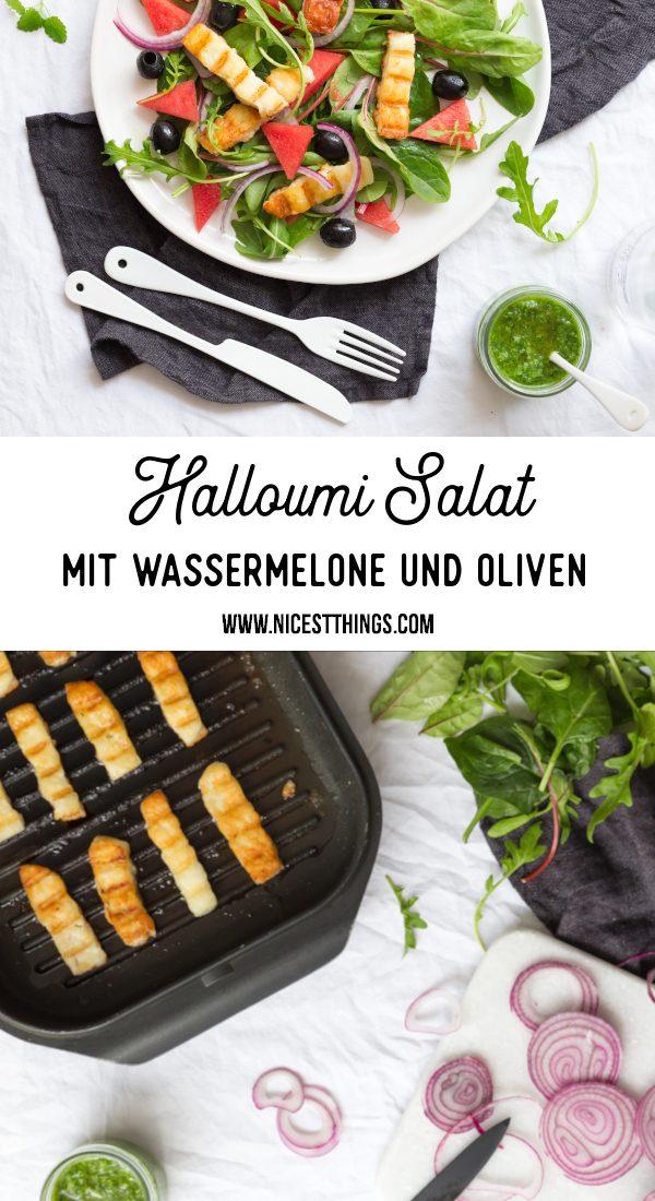 Halloumi Salat Rezept Sommersalat Wassermelonen Salat #halloumi #halloumirezepte #salat #sommersalat #wassermelone #wassermelonensalat #grillen #grillkäse #grillrezepte #salatrezepte