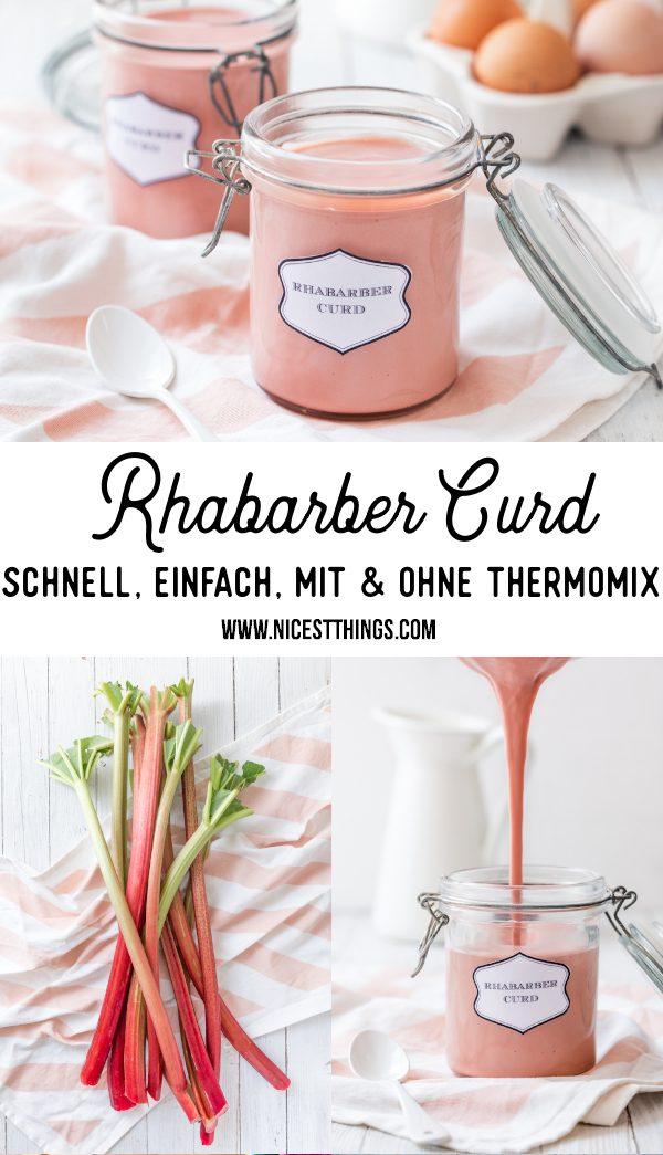 Rhabarber Curd Rezept Rhabarbercurd selber machen mit und ohne Thermomix #rhabarber #rhabarbercurd #curd #rhabarberrezepte #thermomix