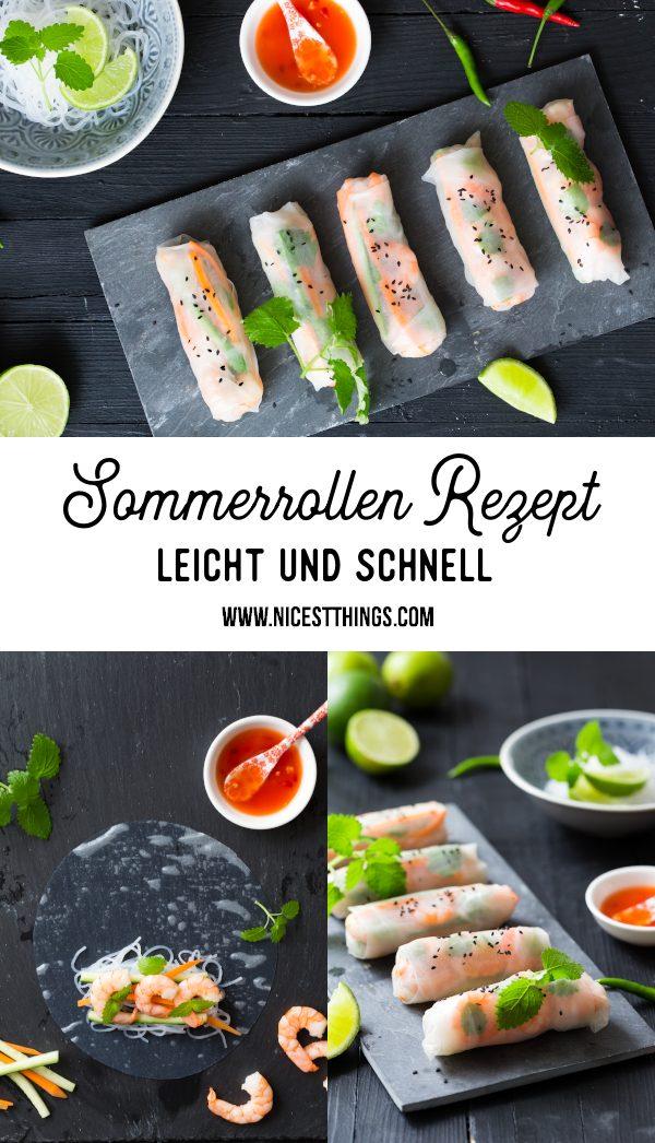 Sommerrollen Rezept Summer Rolls #sommerrollen #summerrolls #garnelen #reisnudeln #asianfood #abnehmen #leichterezepte #asiatisch #foodblogger #rezepte