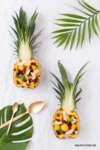 Obstsalat in der Ananas Rezept #obstsalat #ananas #pineapple #obst #patryrezepte #sommerrezepte