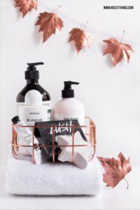 DIY Herbstdeko: Girlande aus Blättern mit Kupfer-...