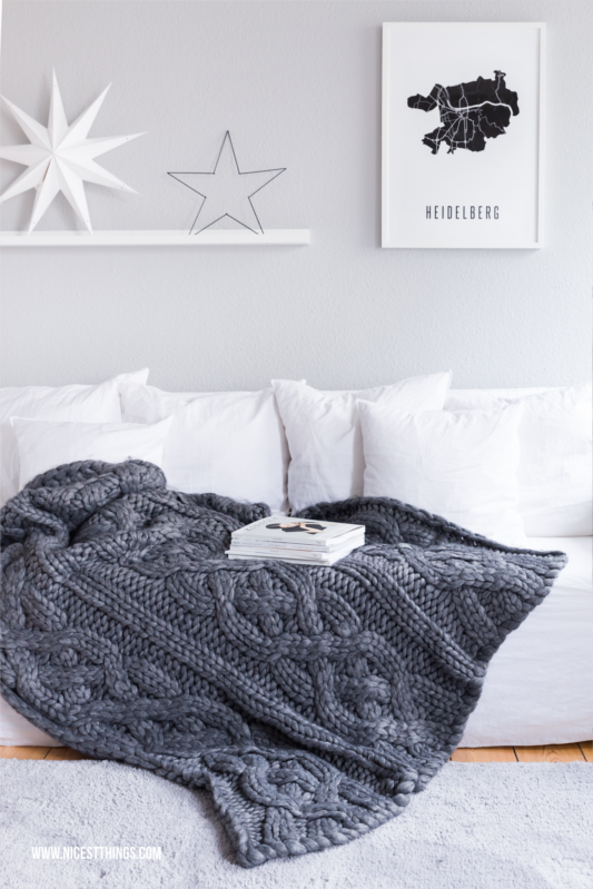 Winter Deko: Gervasoni Ghost Couch And Ugg Oversized Strickdecke / Chunky  Decke #chunky #