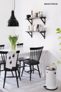 Küche Esstisch schwarz weiss