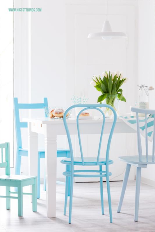 DIY Stühle mit Sprühfarbe lackiren Upcycling