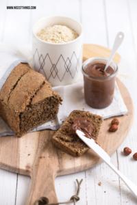 Gesundes Brot backen schnell Schokocreme vegan