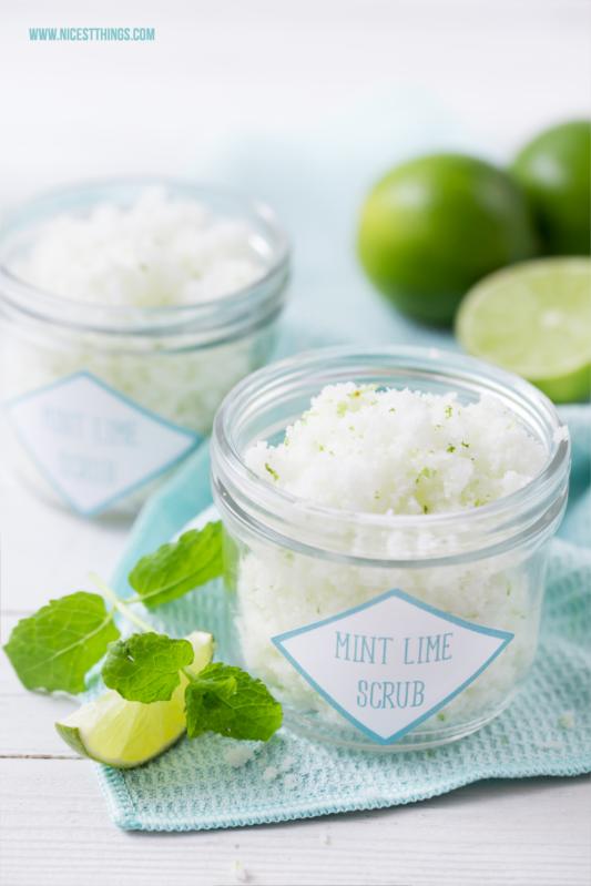 Peeling selber machen Minze Limette Zuckerpeeling