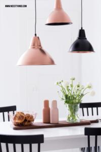 Lampenschirm mit Sprühfarbe gestalten Kupfer DIY