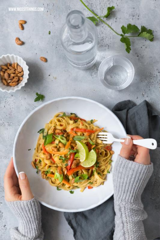 Asiatische One Pot Pasta Rezept vegan