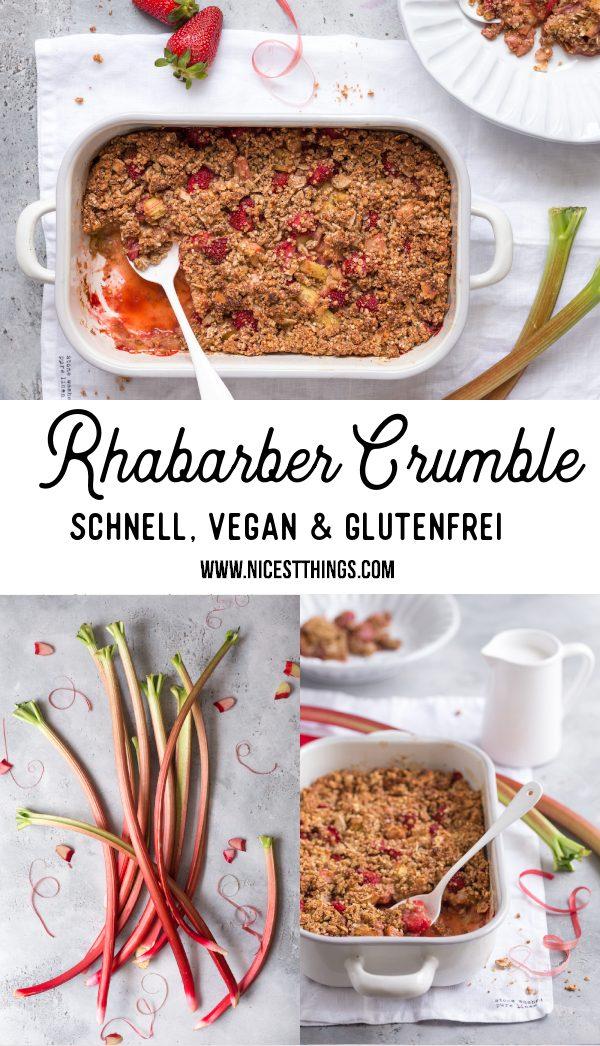 Rhabarber Crumble vegan glutenfrei gesund rezept Rhabarber Erdbeer Crumble #rhabarber #crumble #rhabarbercrumble #vegan #glutenfrei #gesund #abnehmen
